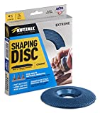 Kutzall Extreme Shaping Disc - Coarse, 4-1⁄2' (114.3mm) Diameter X 7⁄8' (22.2mm) Bore - Woodworking Angle Grinder Attachment for DeWalt, Bosch, Milwaukee, Makita. Abrasive Tungsten Carbide, SD412X90